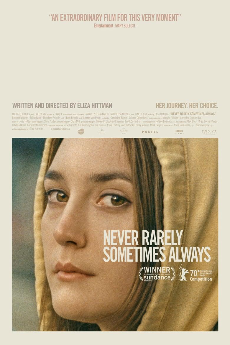 "Poster for the movie ""Never Rarely Sometimes Always"""
