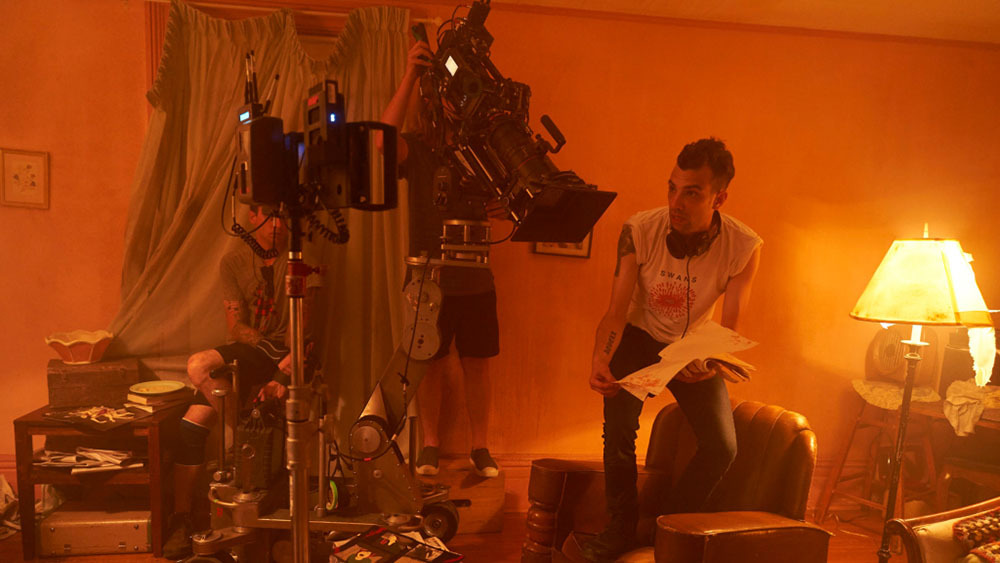 Jay Baruchel on set of Random Acts of Violence